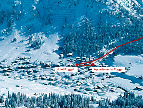 Arrival with car, train and airplane - Lech am Arlberg - Hotel Appartement Roggal