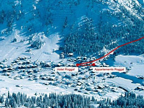 Anreise mit Auto, Bahn & Flugzeug - Lech am Arlberg - Hotel Appartement Roggal