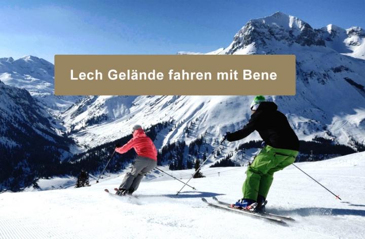Bene mit Jugendgruppe der Skischule Lech