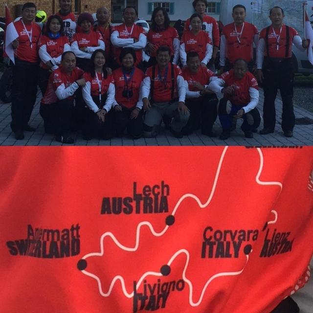 Gute Fahrt der coolen Truppe Top of the Alps 2016