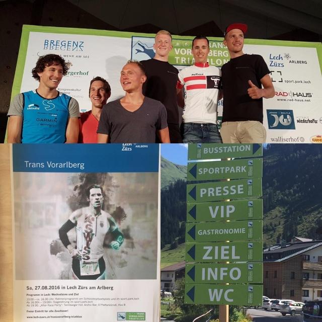 Endlich bei herrlichem Sonnenschein  der Trans Vorarlberg Triathlon Wirhellip